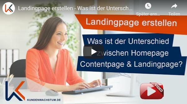 Unterschied Landingpage zu Webseite